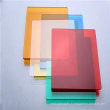 Résistance à l'usure de la feuille de toiture en polycarbonate solide