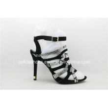 Sexy High Heels Snakeskin Lady Straps Shoes