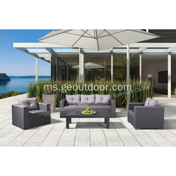 Set Aluminium 4 Piece Sofa Taman Set