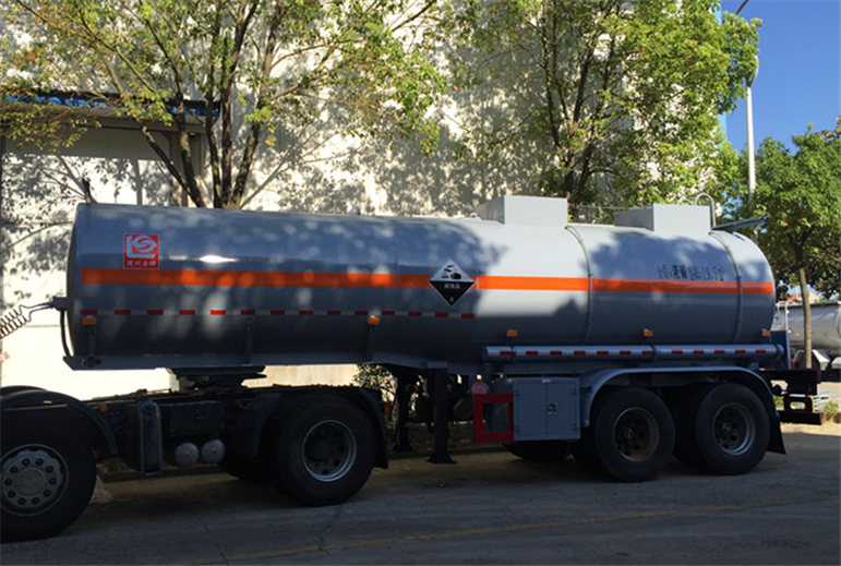 Sodium hydroxide transport tank semi trailer