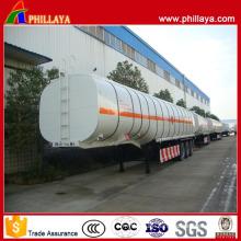Various Capacities Tri Axle Gooseneck Type Stainless Fuel Tanker Trailer