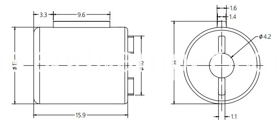 Damper Drawing For Auto Cosmetic Mirror