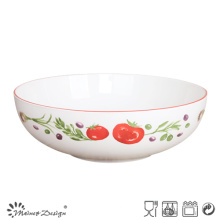 """30.5""""Cm Big Porcelain Bowl with Garden Style Home Use"""