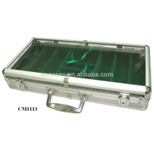 New arrival Foshan 300 aluminum poker chip acrylic case