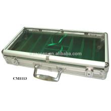 Chegada de Nova caso de acrílico Foshan 300 alumínio poker chip