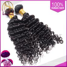 Beauty-Produkte, die Flechten menschlichen, kinky tiefen Körper Welle Haarverlängerungen 14 Zoll schwarz