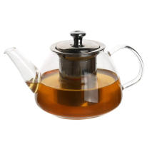 Handmade Glass Teapot With Stainless Steel Infuser