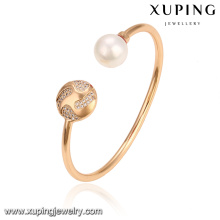 51787 brazalete de la perla de la manera de la venta al por mayor de la joyería de Xuping para las señoras con oro plateado