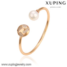 51787 Xuping Jewelry Wholesale Fashion Pearl Bangle for Ladies With Gold Plated
