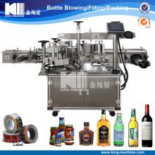 Máquina de etiquetado adhesiva lateral doble de alta calidad para la botella redonda / cuadrada