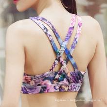Подгонянный OEM дизайн печать большой размер женщин сексуальный спорт нижнее белье йога