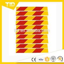 Carro Automóvel Adesivo Reflexivo Sinal de Segurança Vermelho Amarelo 40x5 cm 10 Pcs