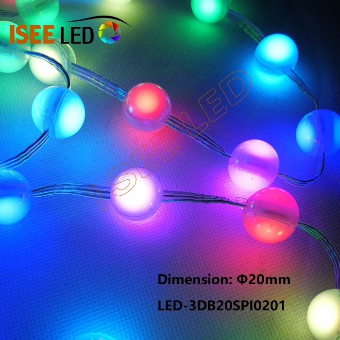 2cm Led Ball Spi1903 2 Led Milky Cover Iseeled