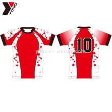 Jersey de fútbol personalizado 100% poliéster personalizado rugby wear