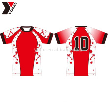 Vêtements de jersey de football rugby 100% polyester spécialisés