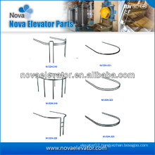 Hairline Stainless Steel Lift Cabin Handrail, Elevator Handrail for Panoramic Lifts