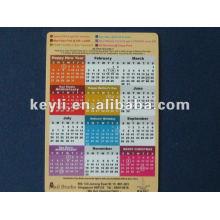 Imán del calendario, según su diseño. buena calidad .