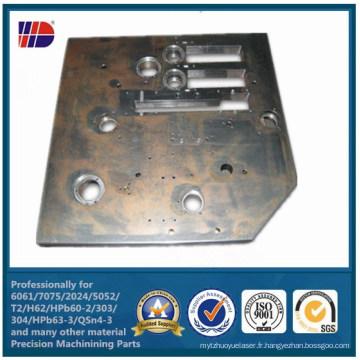 Composants usinés par précision de usinage de commande numérique par ordinateur d'alliage d'acier