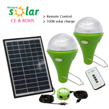 Top ventas CE Portable 3W Solar Led luz de emergencia con construido en batería de litio