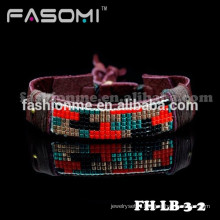 Bracelet de cuir mode professionnel personnalisé de haute qualité 2015