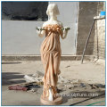 Peaceful European Life Tamanho Mix Color Marble Maid Statue