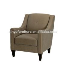 linen upholstery 1 seater hotel sofa XYN999
