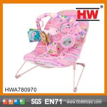 (Batería no incluida) Vibrador de alta calidad vibrante y silla musical del plástico del bebé