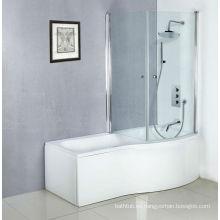 Las más nuevas bañeras blancas del acrílico para el adulto, bañera con la ducha y la pantalla