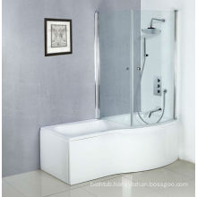 Newest White Acrylic Bathtubs for Adult, Bathtub with Shower and Screen