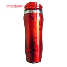 Red Plastic Thermal Mug Cup
