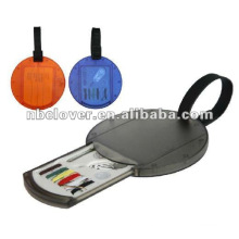 promotion luggage tag with sewing kit