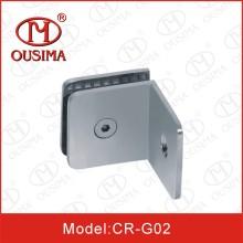 Conector de vidro lateral do banheiro do único quadrado de 90 graus (CR-G02)
