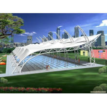 Modern Space Frame Glass Roofing of Swimming Pool