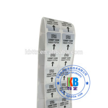 наклейка штрих-кода наклейка типа пользовательские бланк матовый серебристый PET теплообменная этикетка