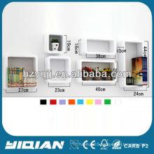 Modern High Gloss Home Decor Shelf Wall Mounted Decorative Cube Bookcase