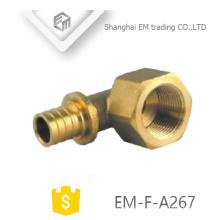 EM-F-A267 laiton diamètre différent Écrou hexagonal filetage femelle joint de dent circulaire union