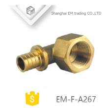 EM-F-A267 brass different diameter Hexagon nut female thread circular tooth union fitting