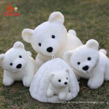 Großhandel Weihnachten Tierpuppe Benutzerdefinierte GiantLargeMini Weich Gefüllte Plüsch Eisbär Spielzeug