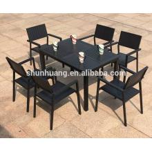 Hot sale outdoor chair garden plastic wood bistro dining  chair