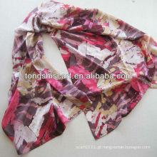 lenço de seda impresso clássico do lenço