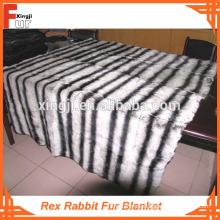 Teñido en diseño de Chinchilla Manta de piel de conejo Rex