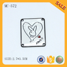 MC572 Étiquettes et étiquettes de vêtements colorés personnalisés