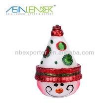 Forma de muñeco de nieve llevó vela sin llama