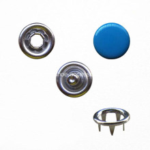 Prong Snap Button with Royal Blue Cap