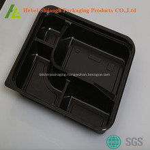 Black color plastic fast food packaging containers