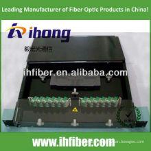 Panneau de raccordement fibre optique fixe en rack de 19 '' 1U avec couvercle transparent