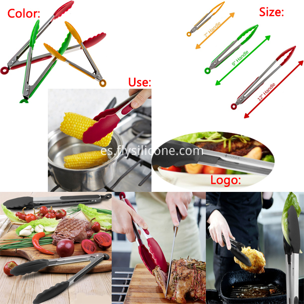 Silicone Tongs-using