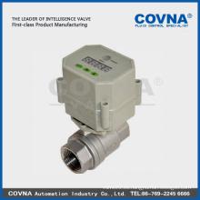 SS 304/316 válvula de bola motorizada para los metros de la tarjeta del IC / tratamiento de agua