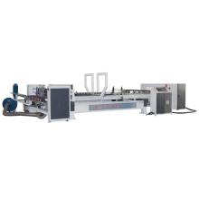 automatic corrugated carton folder gluer stapler nail box machine carton gluing and stitching machine
