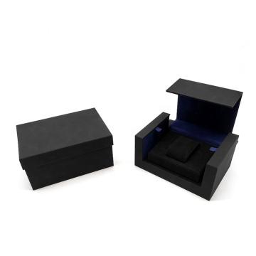 Wholesale Custom Logo specialty paper black single watch box display for watch strap box